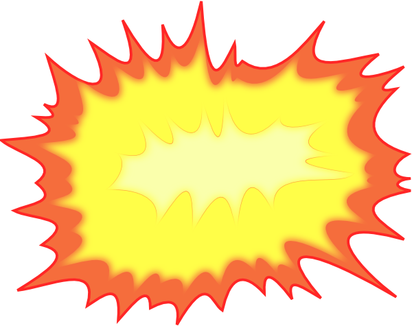 Explosion clip art at. Bomb clipart bomb blast