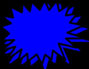 Blue explosion pow clip. Burst clipart blank