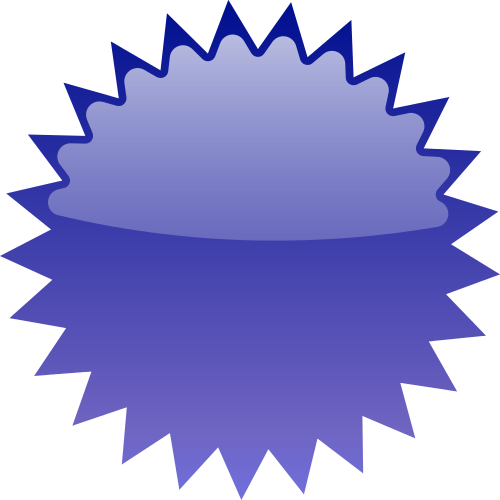 Star blue blanks shapes. Burst clipart blank
