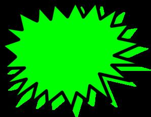 Burst clipart blank. Green explosion pow clip