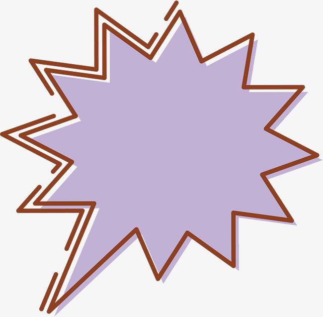 Purple stickers vector png. Burst clipart bubble