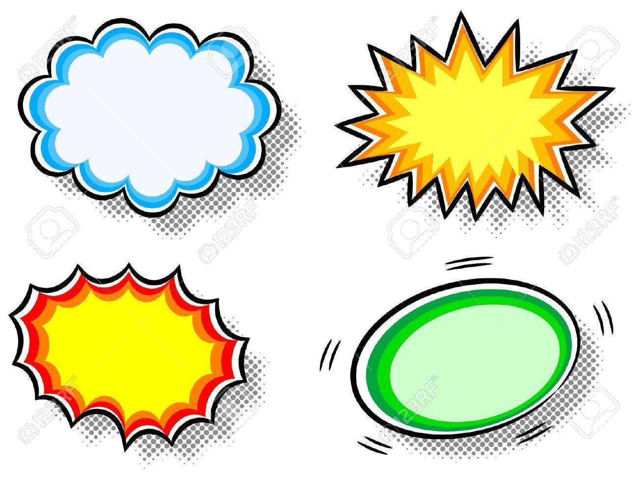 Burst clipart bubble.  illustration of four
