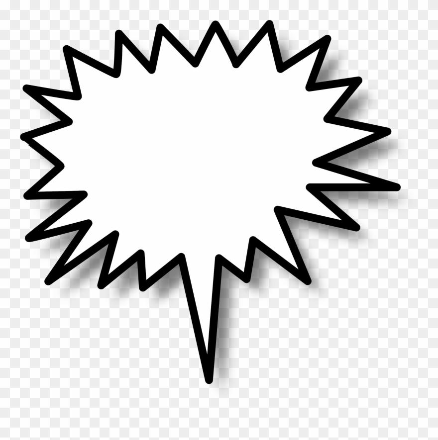 Burst clipart bubble. Speech star clip art