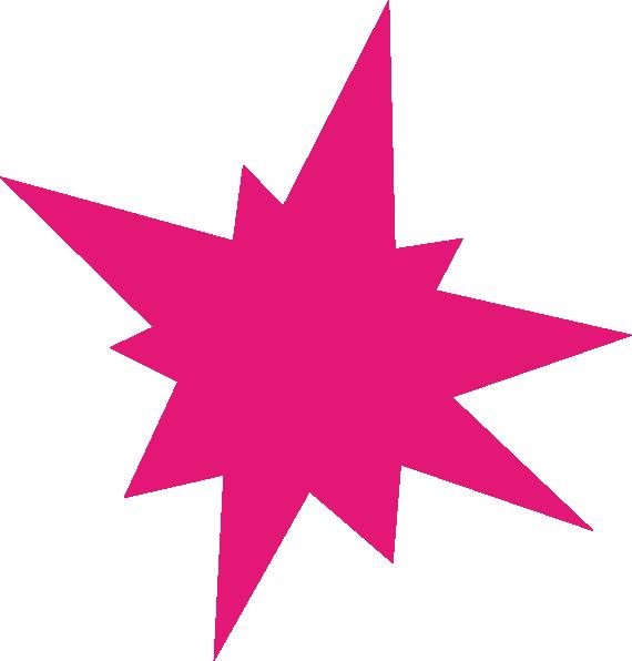 Magenta burst clip art. Dot clipart bursts