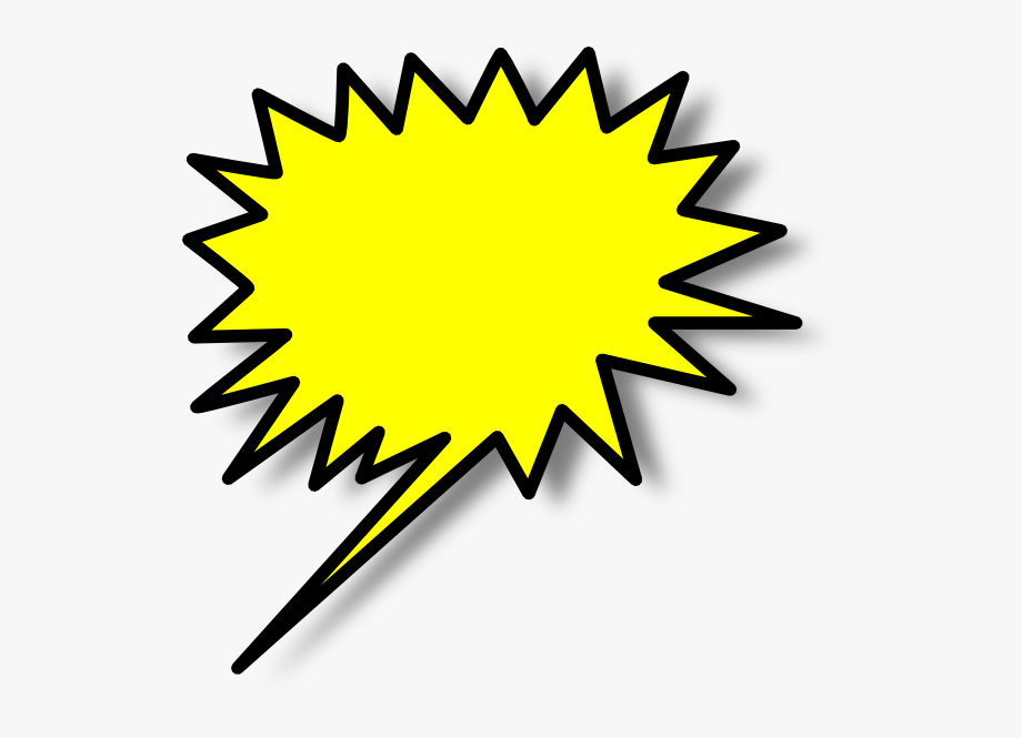 Burst clipart clip art. Balao amerelo star free