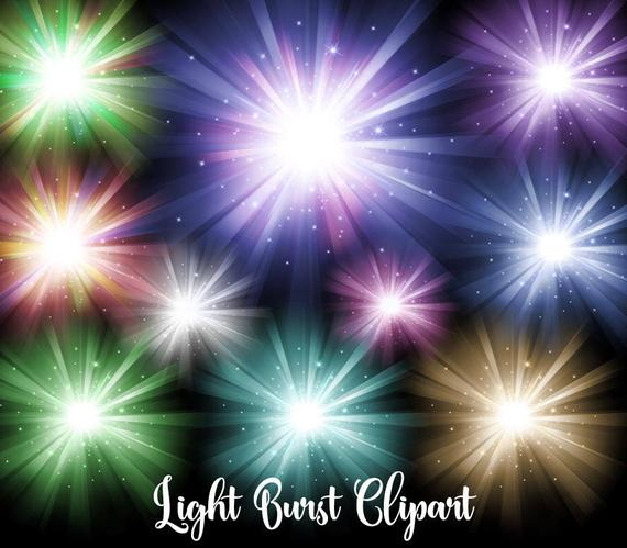Burst clipart clip art. Light bursts digital overlays