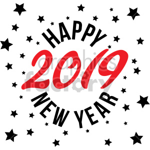 happy new year. Burst clipart clip art