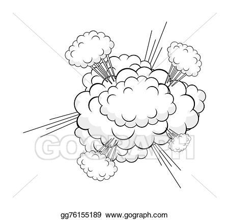 Vector stock illustration gg. Burst clipart cloud burst