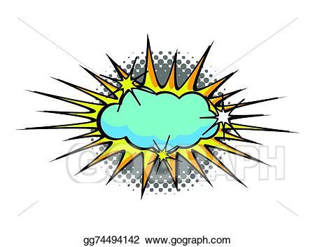 Vector illustration cartoon blue. Burst clipart cloud burst