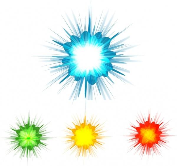 Burst clipart color burst. Background set free vector