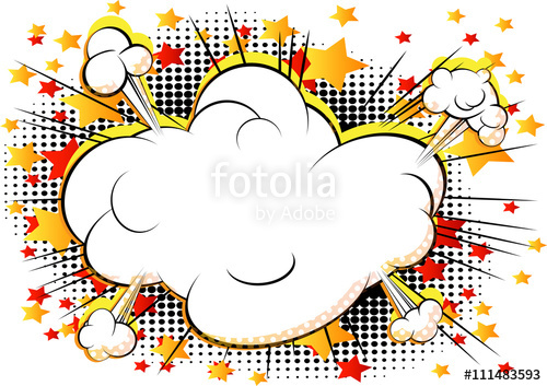Vector style cloud explosion. Burst clipart comic book