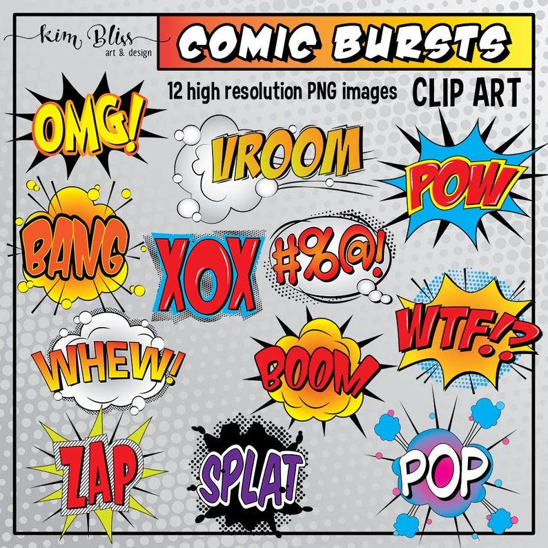 Clip art bursts bubbles. Burst clipart comic book