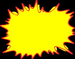 Simple clip art at. Burst clipart explosion