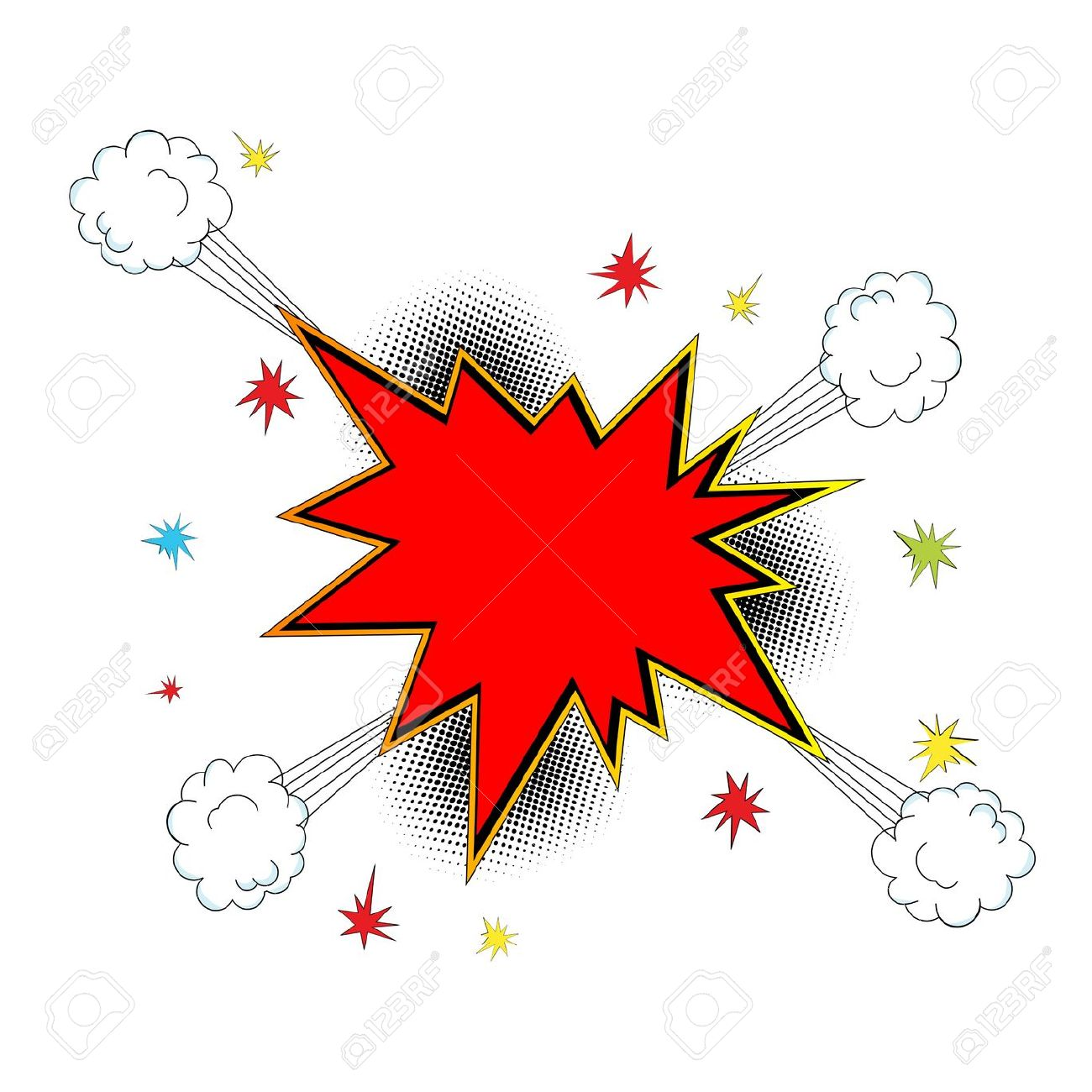 Burst clipart explosion. Explosions balloon pencil and