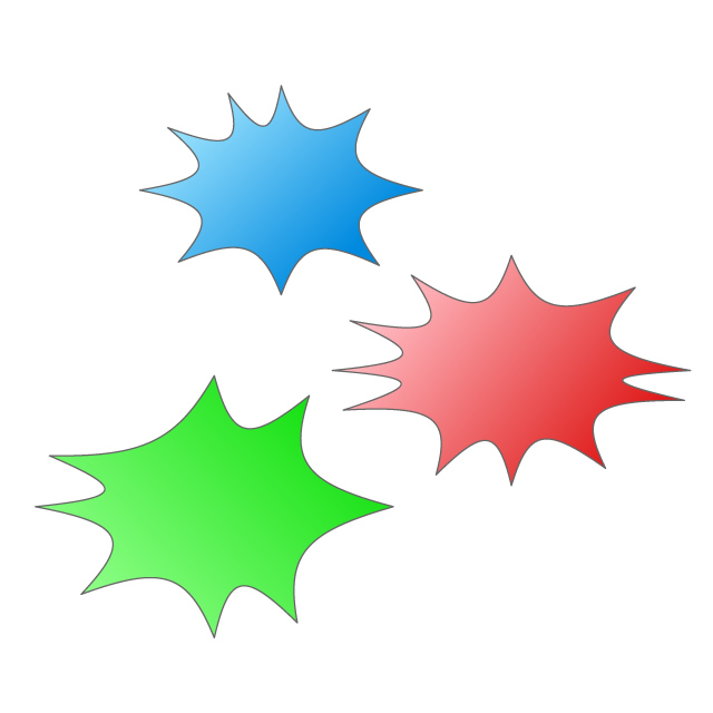 Surprise image green red. Burst clipart explosion