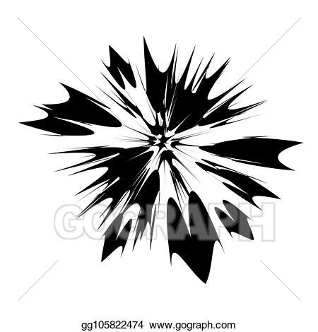 Vector illustration explode flash. Burst clipart explosion