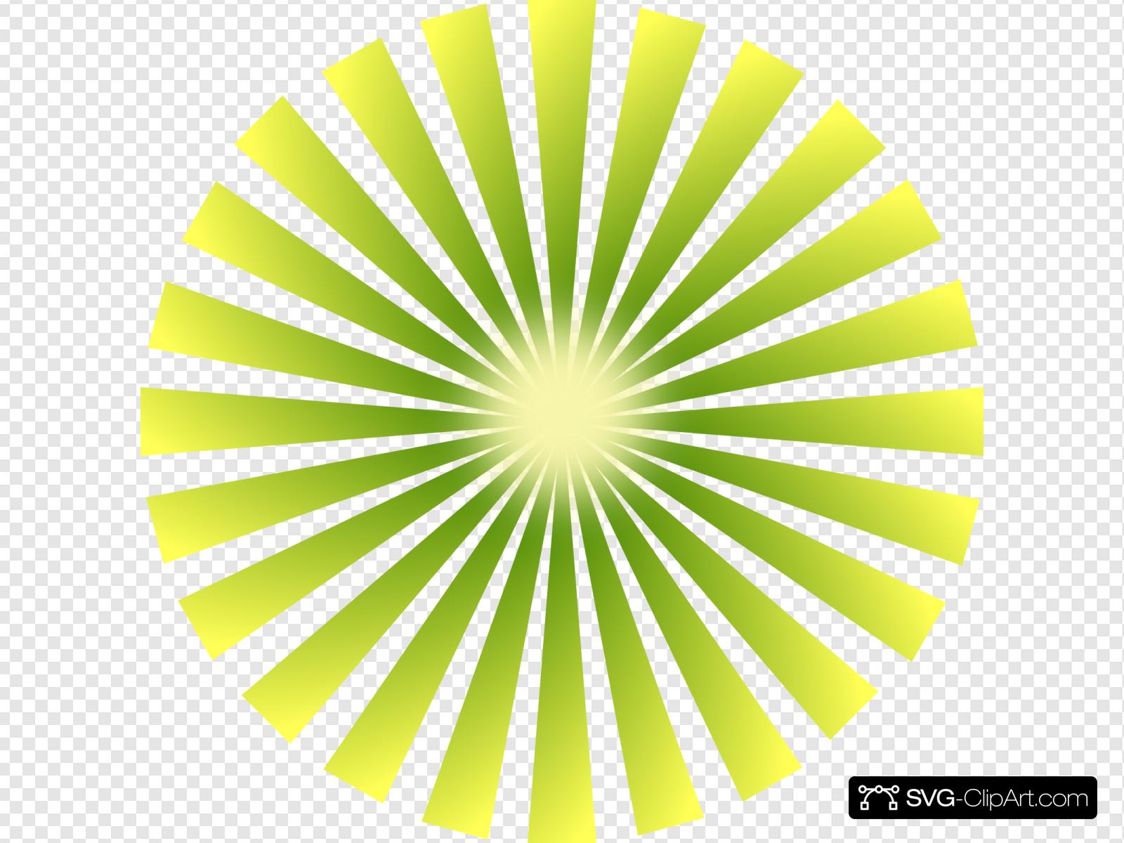 Rays clip art icon. Burst clipart green