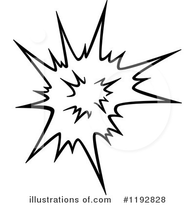 Clipart explosion line art. Illustration by vector tradition