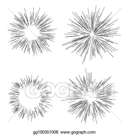 Vector sun star sunshine. Burst clipart line