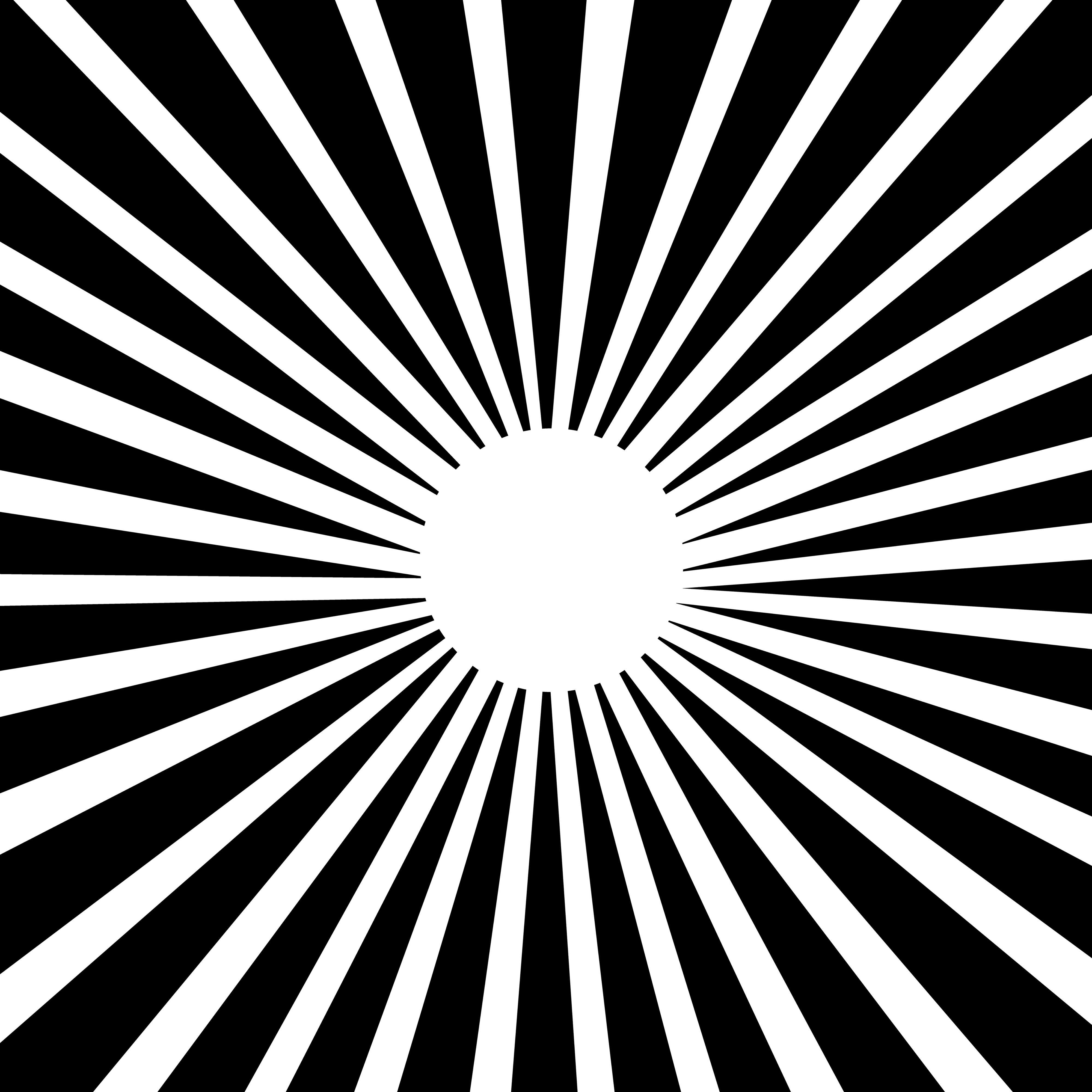 Burst clipart line. Lineart sun pattern white