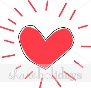 Heart valentine image. Burst clipart line