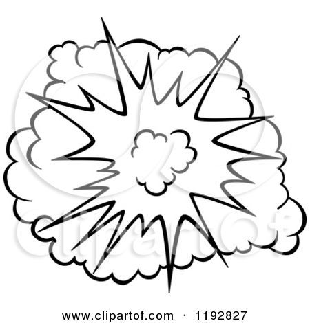 Burst clipart outline. Of a black and