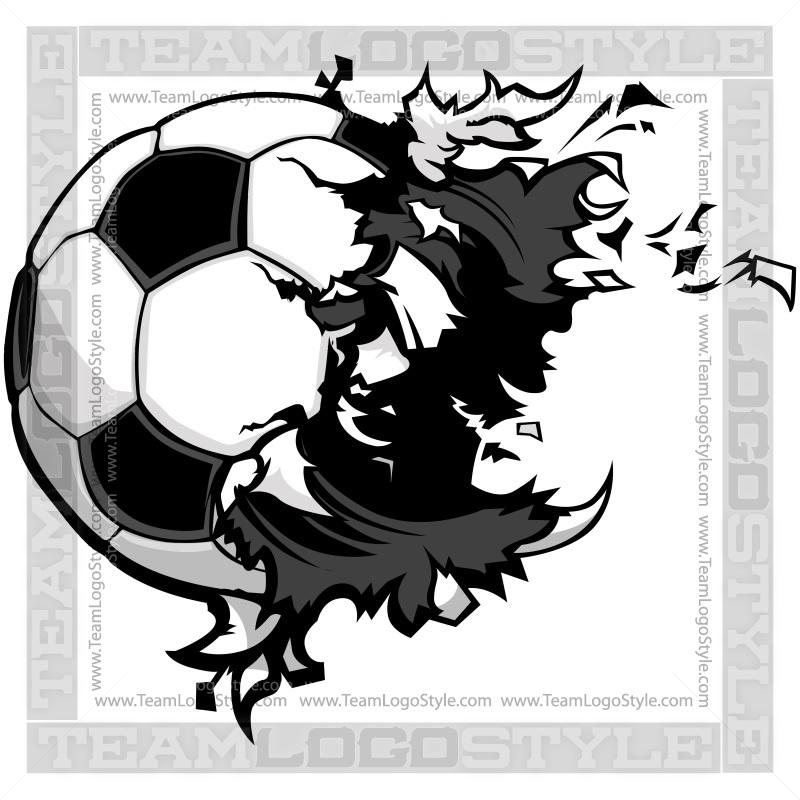 Burst clipart outline. Soccer ball exploding clip