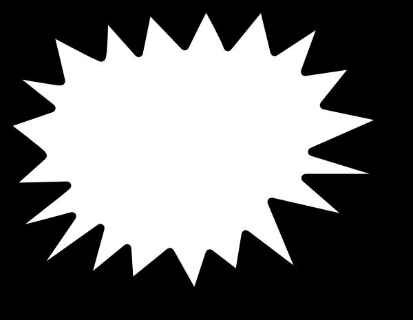 burst clipart outline
