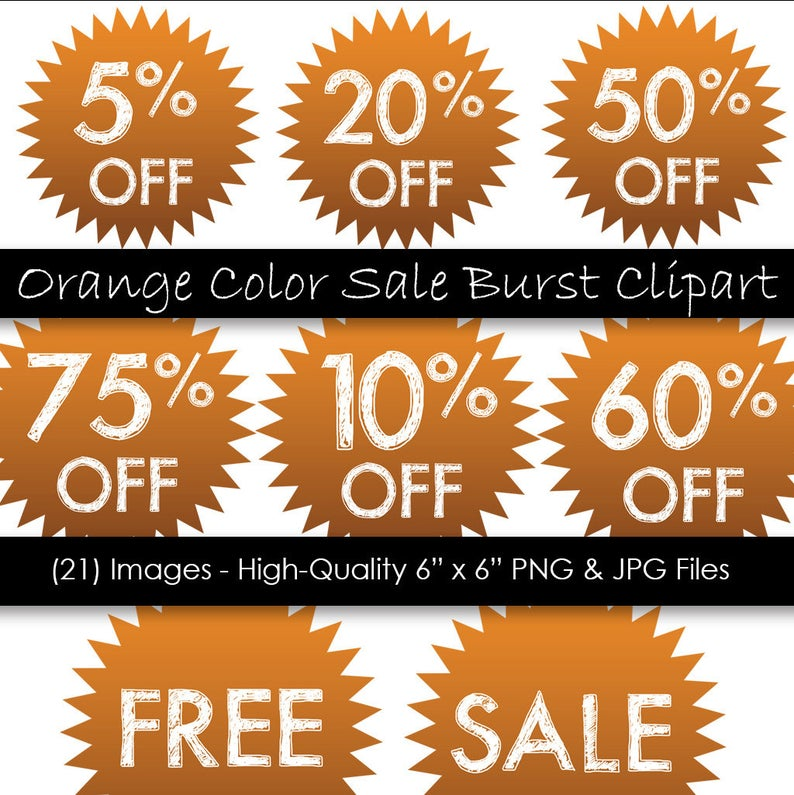 Sale discount orange piece. Burst clipart pink starburst