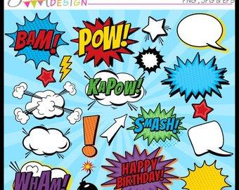 Bam etsy superhero burts. Burst clipart pow
