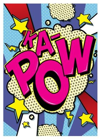 Burst clipart pow. Ka pop art mini