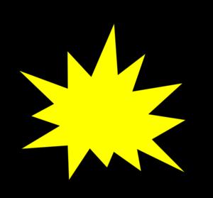 Burst clipart pow. Yellow comic clip art
