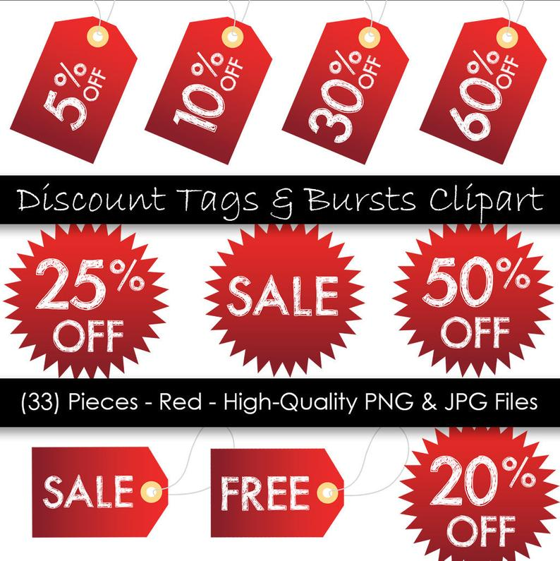 Burst clipart price tag. Printable hang tags red