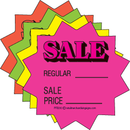 Burst clipart price tag. Fluorescent cards sale tags