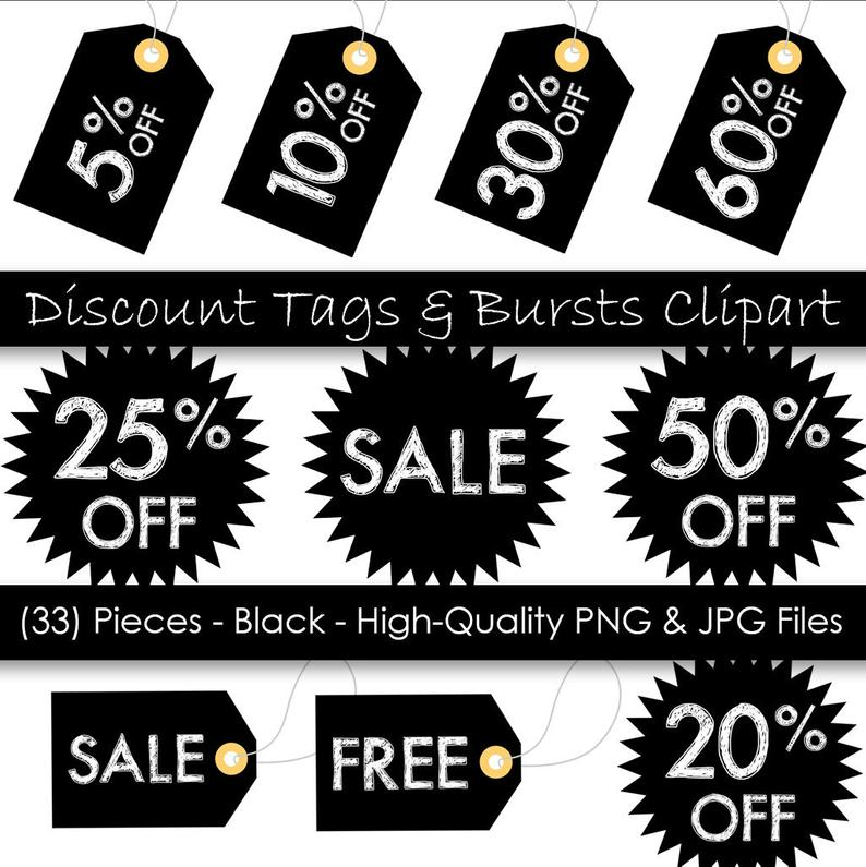 Printable hang tags black. Burst clipart price tag