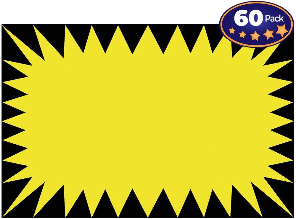Retail genius yellow sign. Burst clipart price tag