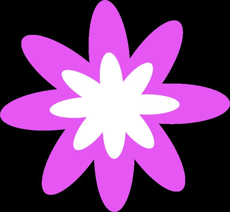 Flower medium image png. Burst clipart purple