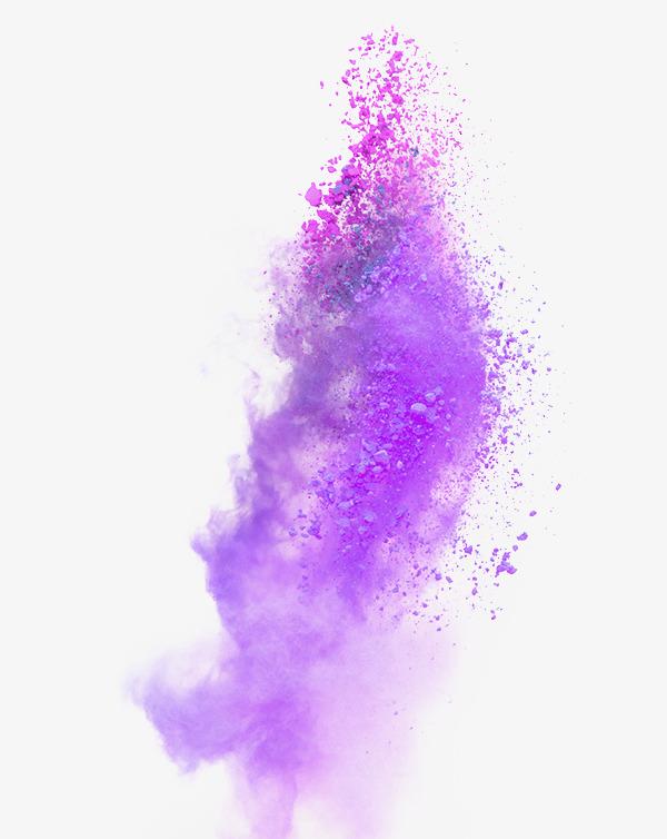 Burst clipart purple. Atmosphere explosion dust effect