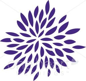 Flower. Burst clipart purple
