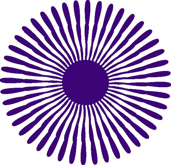 Purple flower burst clip. Dot clipart bursts