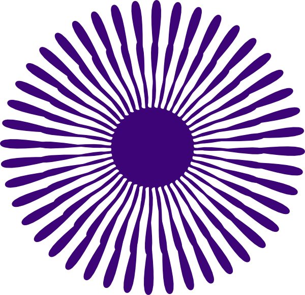 Burst clipart purple. Flower clip art at
