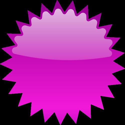 Star blank blanks shapes. Burst clipart purple