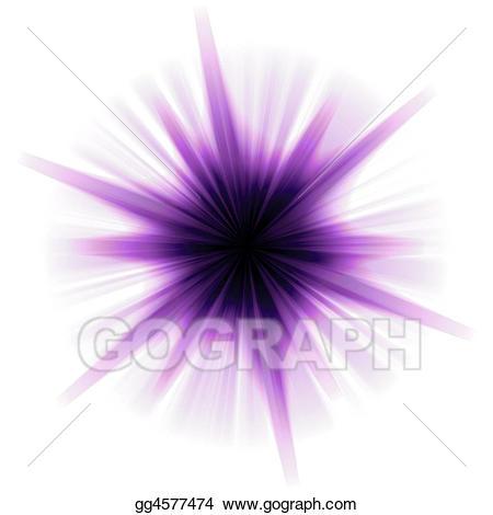 Burst clipart purple. Stock illustrations solar star