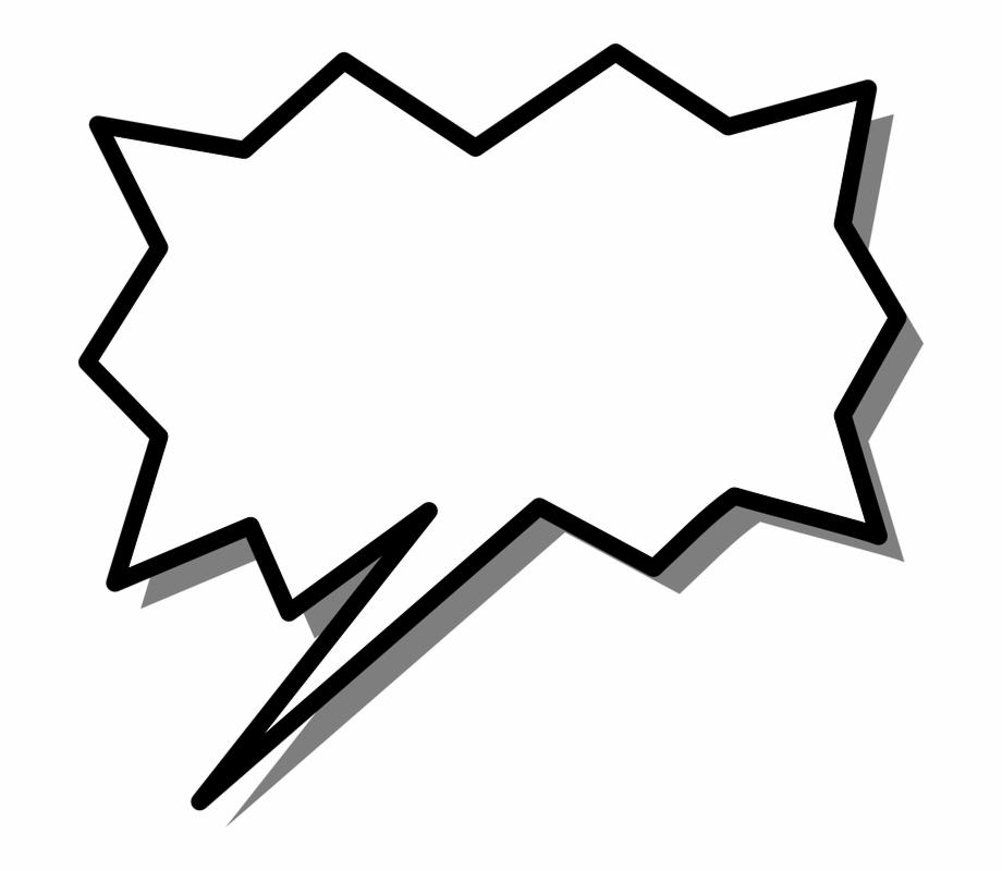 Speech box arrow message. Burst clipart shape