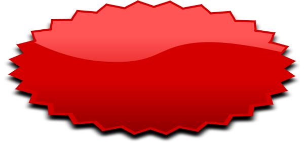 Burst clipart shape. Oval red blanks shapes