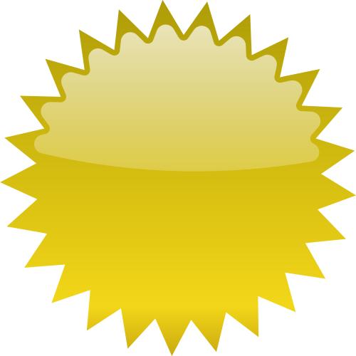 Burst clipart shape. Star blank gold blanks