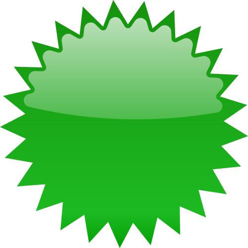Star blank green blanks. Burst clipart shape