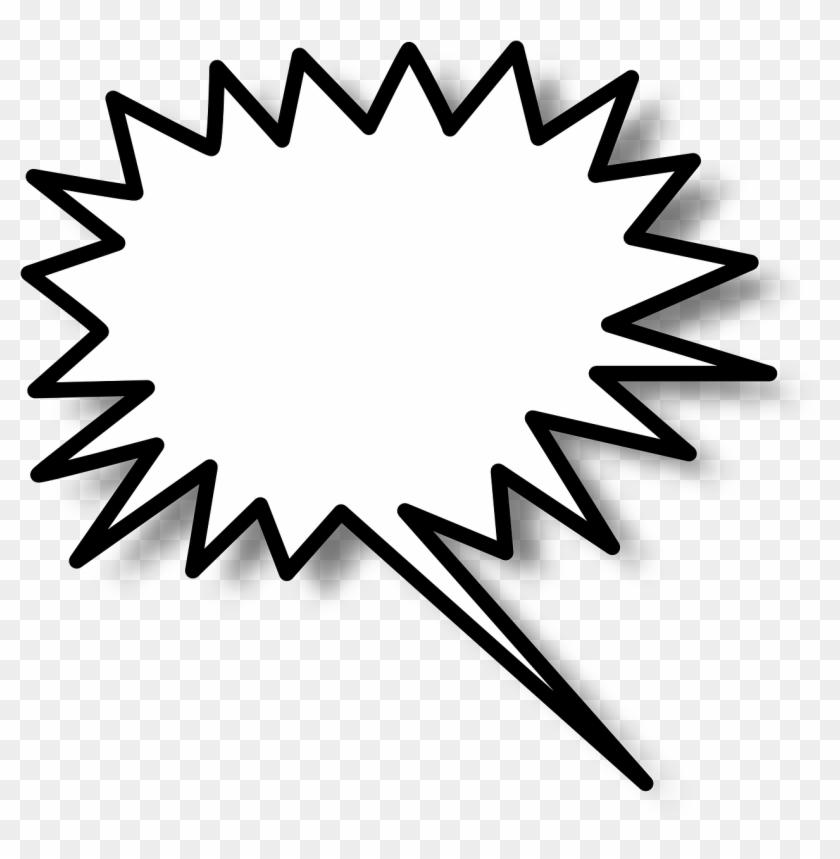 Speech bubble star symbol. Burst clipart shape