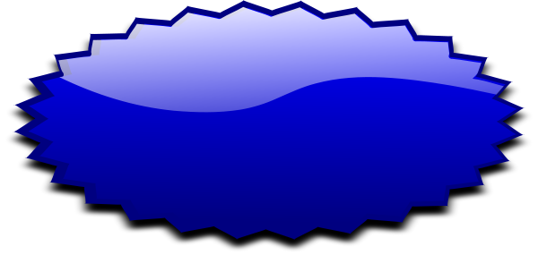 Oval blue blanks shapes. Burst clipart shape
