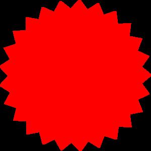 Award seal clip art. Burst clipart spiky